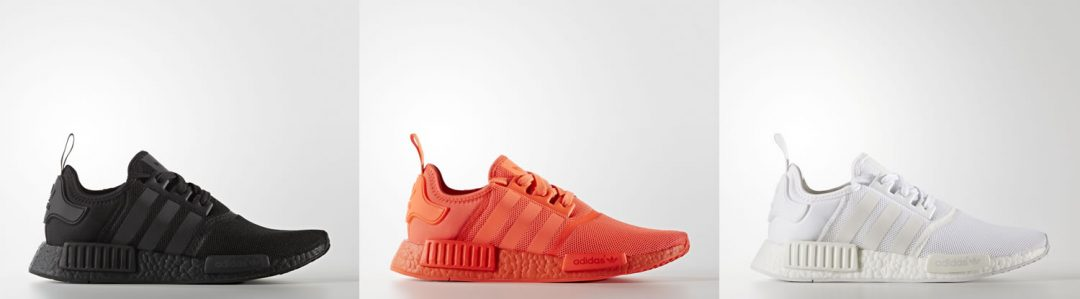 Adidas NMD_R1 All Black, All White and All Red Restocked