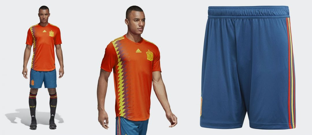 Spain home shirt for 2018 world cup