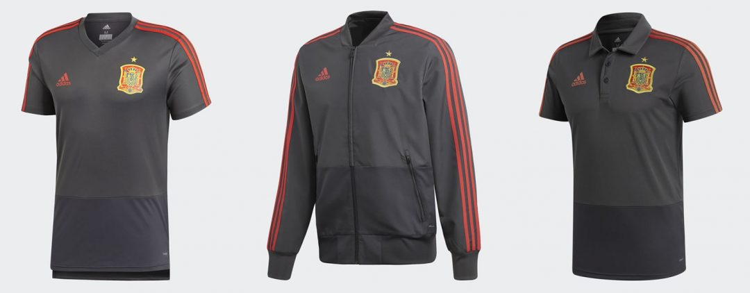Spain away training shirts for 2018