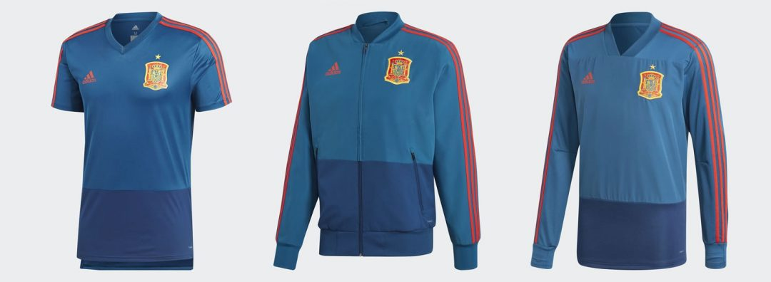 Spain 2018 training shirts