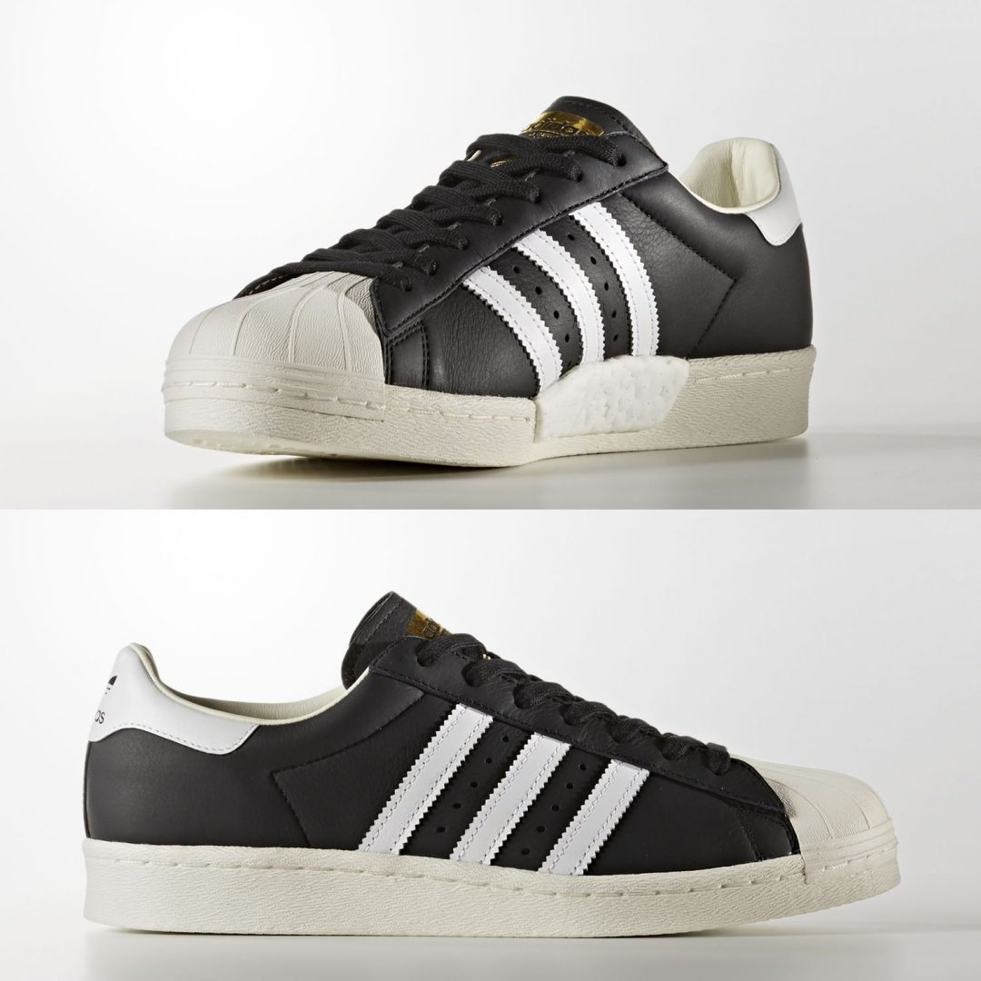 Adidas Superstar With Boost Trainers In Black