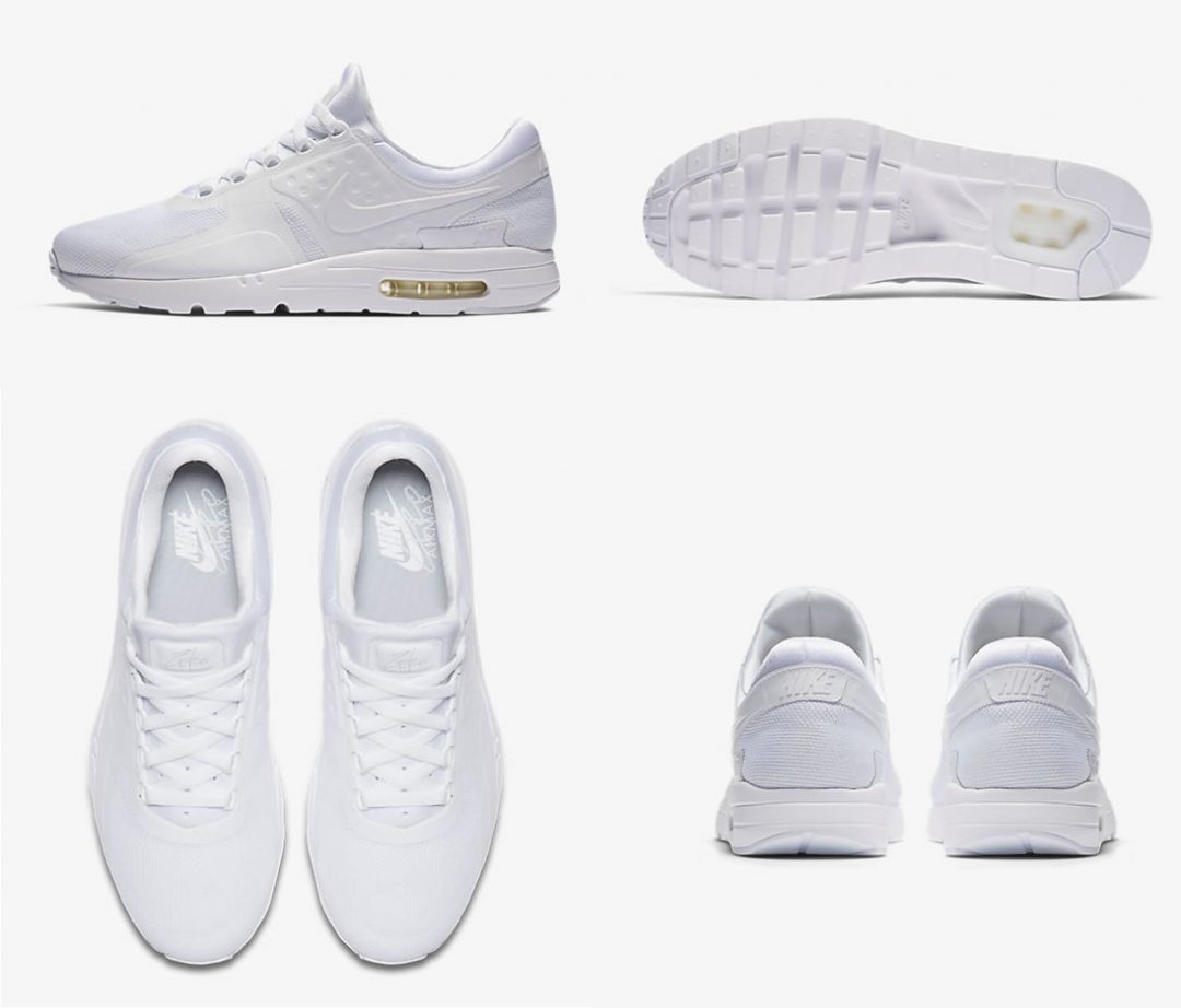 Air Max Zero In Triple White By Nike