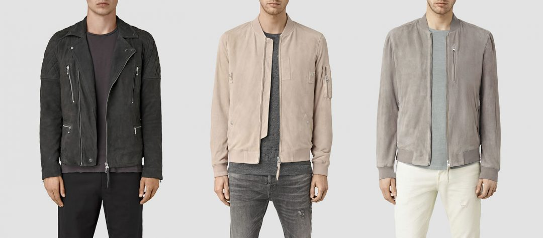 All Saints Men's Suede Jackets For AW16