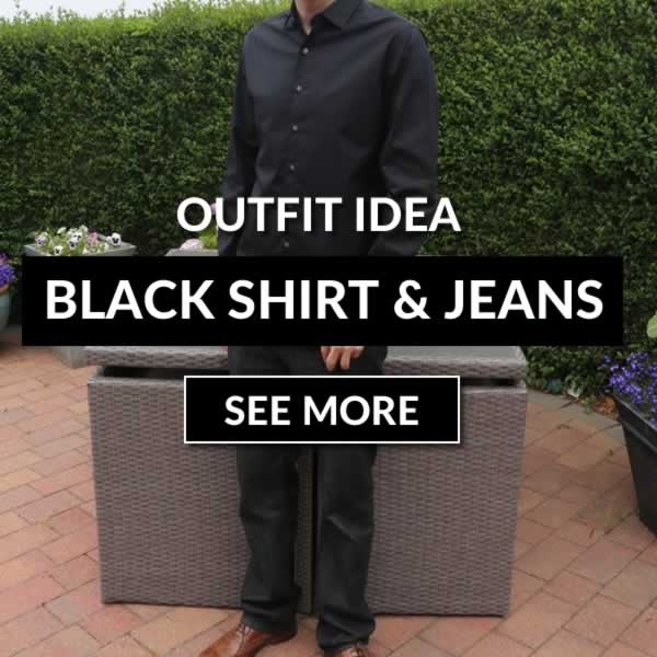 Black Jeans With A Black Shirt Outfit