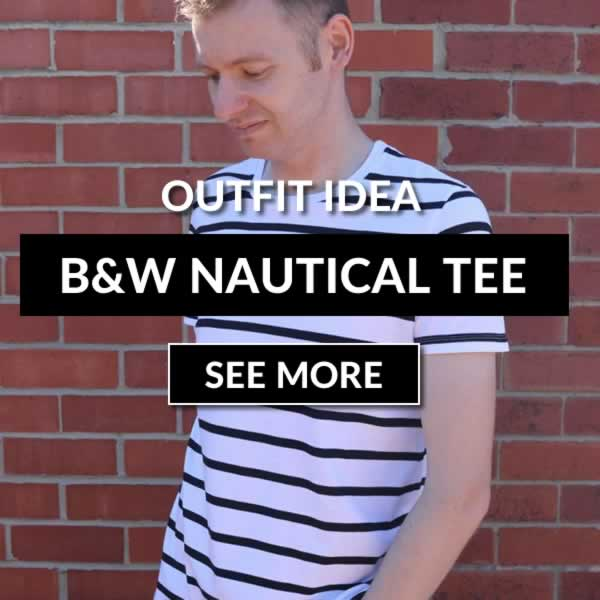 Black and White nautical T Shirt Outfit