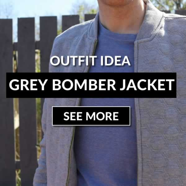 Grey Bomber Jacket Outfit