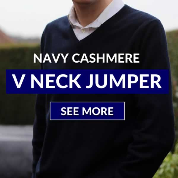 Navy Cashmere Jumper Outfit