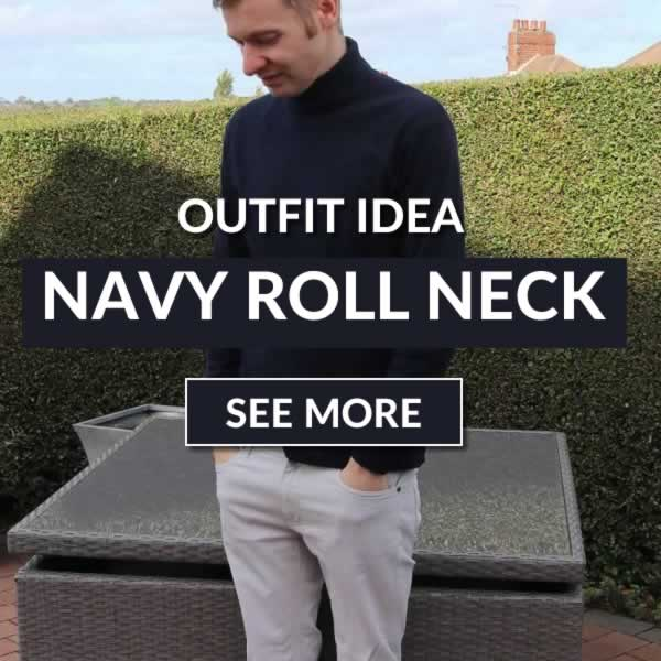 Navy Roll Neck Outfit