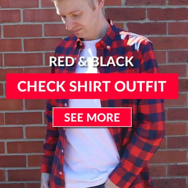 Red and Black Buffalo Check Shirt Outfit Idea