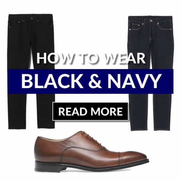 How To Wear Black And Navy Together