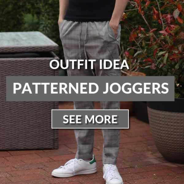 Outfit Idea - Men's Patterned Joggers