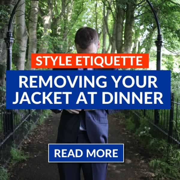 Should You Take Off Your Suit Jacket At Dinner
