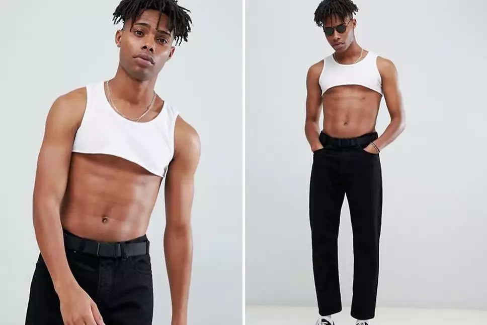 ASOS Menswear selling a crop top