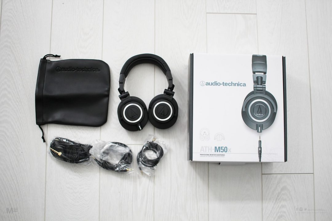 audio technica m50x headphones Unboxing