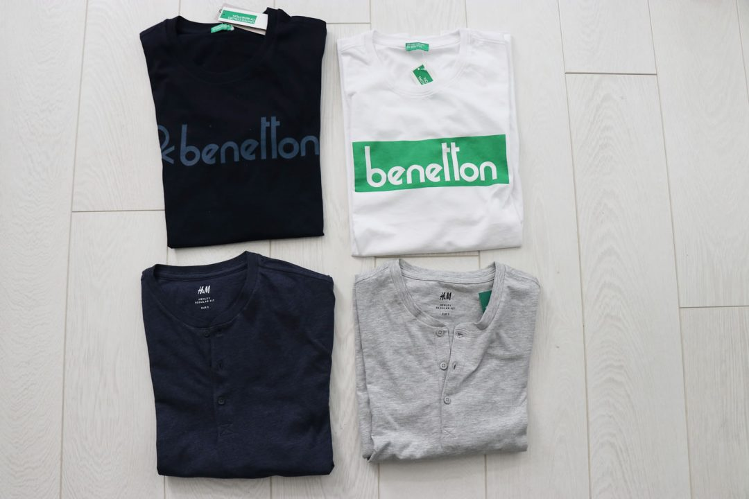 My Benetton T Shirts with H&M Henley T Shirts