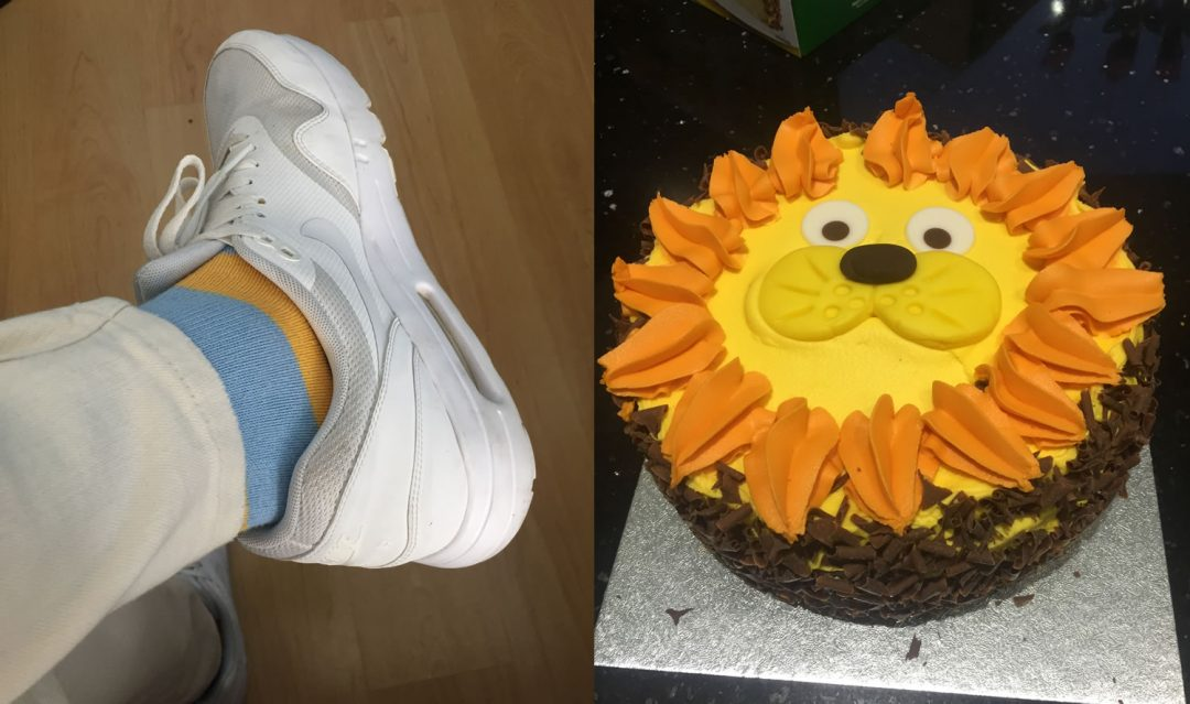 Birthday cake and socks
