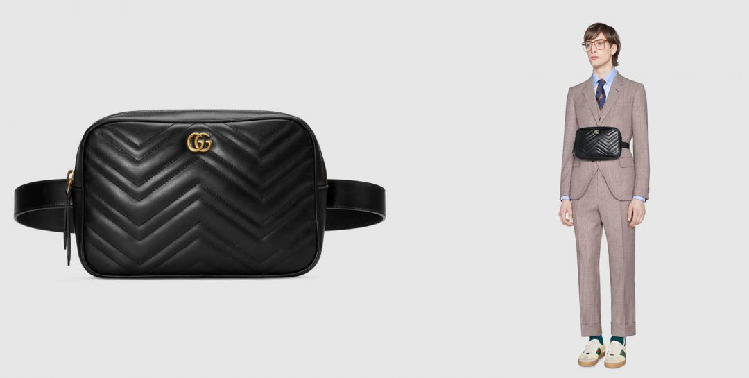 Gucci Marmont Matelassé leather belt bag - bum bag trend