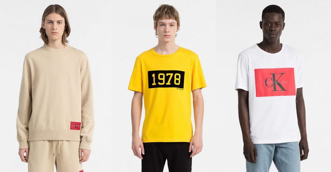 Mens Calvin Klein T Shirts And Sweats From True Colours Collection