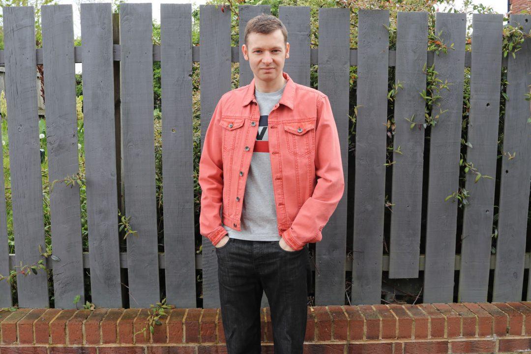 Rust Orange Denim Jacket