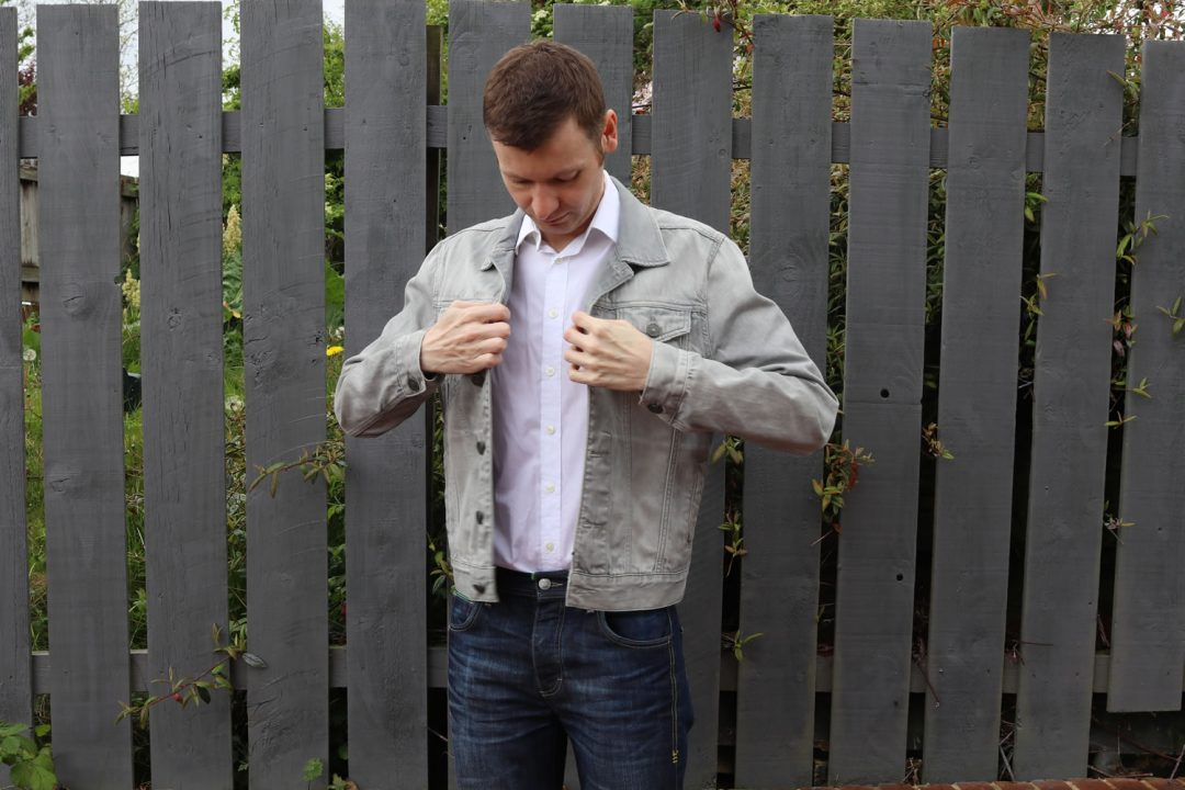 Wearing A Shirt With A Denim Jacket