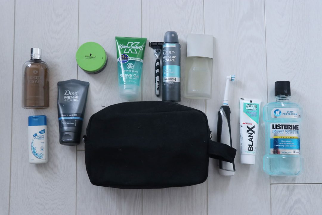 DIY Men's Grooming Kit - The Essential Wash Bag Products