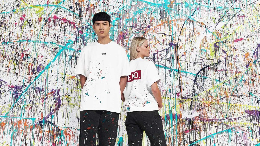 Levi's x END Paint T Shirt Collab In White