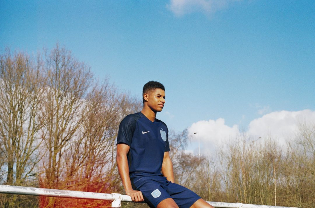 Marcus Rashford England 2017 Away Kit Lottie Bea Spencer for Nike