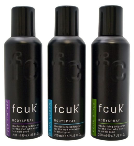 FCUK Body Spray Collection