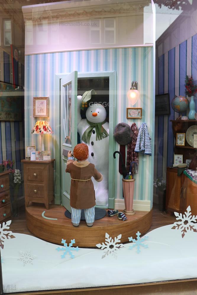 Fenwick Window 2018 - The Snowman
