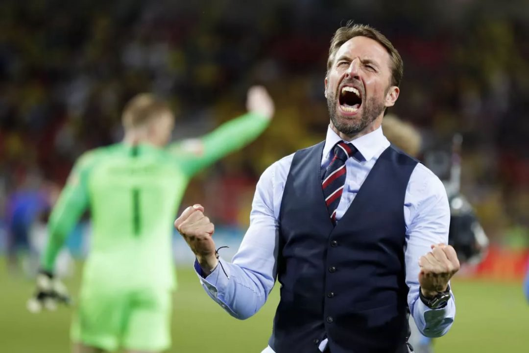 Look as happy as Gareth Southgate does!