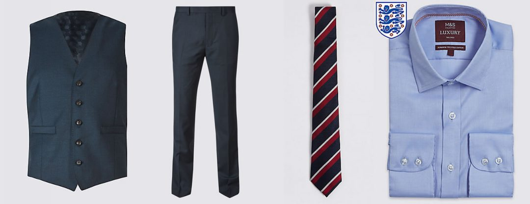 Get The Gareth Southgate Style - Waistcoat, trousers and tie