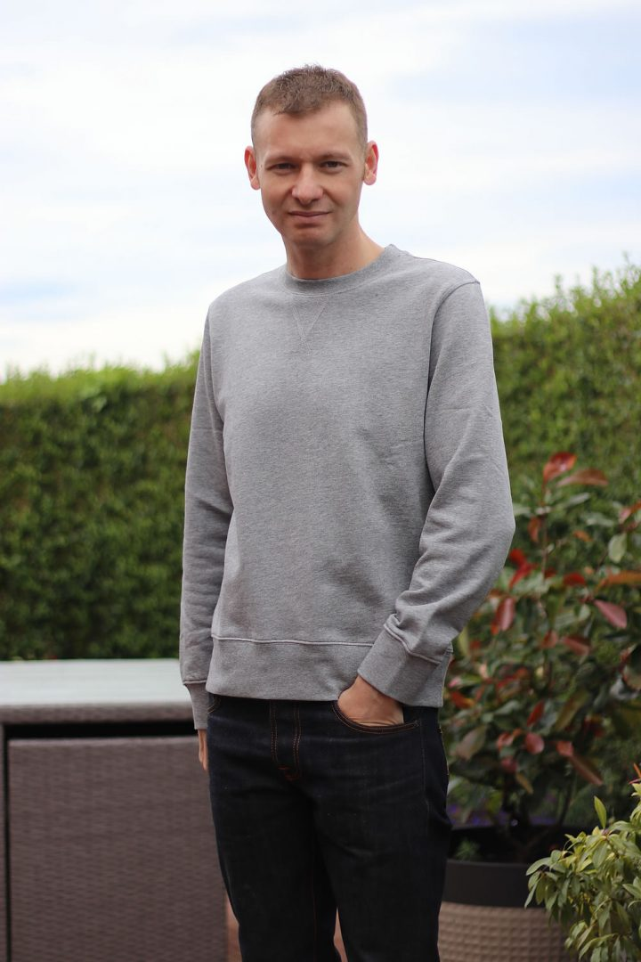ARKET Sweatshirt Review - Men's Grey Loopback sweatshirt by Michael 84