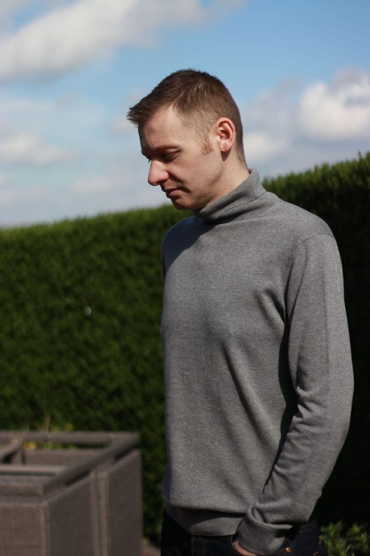 Grey Roll Neck For Bank Holiday Monday In Late May