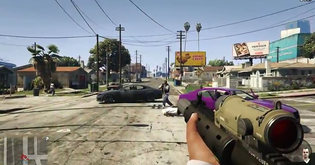 gta v xbox one ps4 amp pc first person perspective