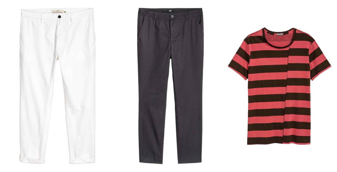 chinos and tees from h&m