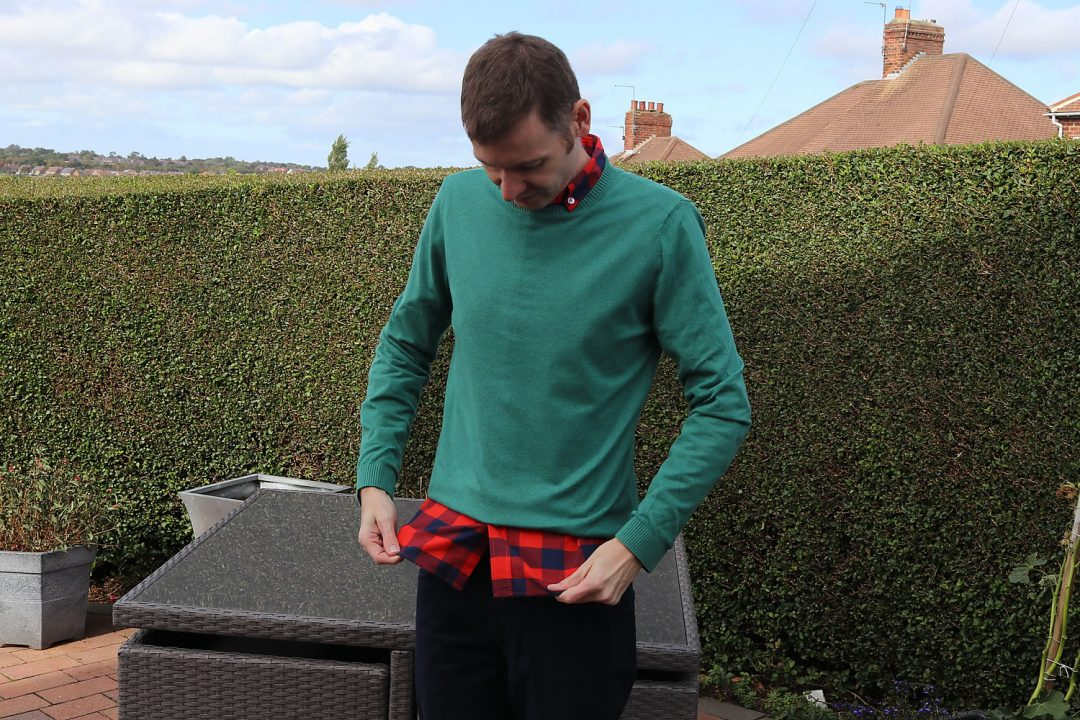 Hey Arnold Style - Green Jumper And Red Check Shirt