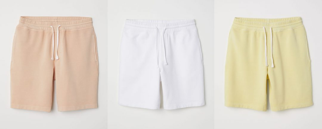 H&M Pastel Sweat Shorts