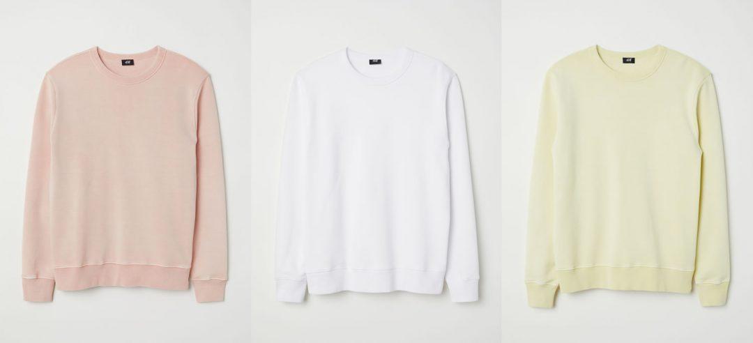 H&M Pastel Sweatshirts