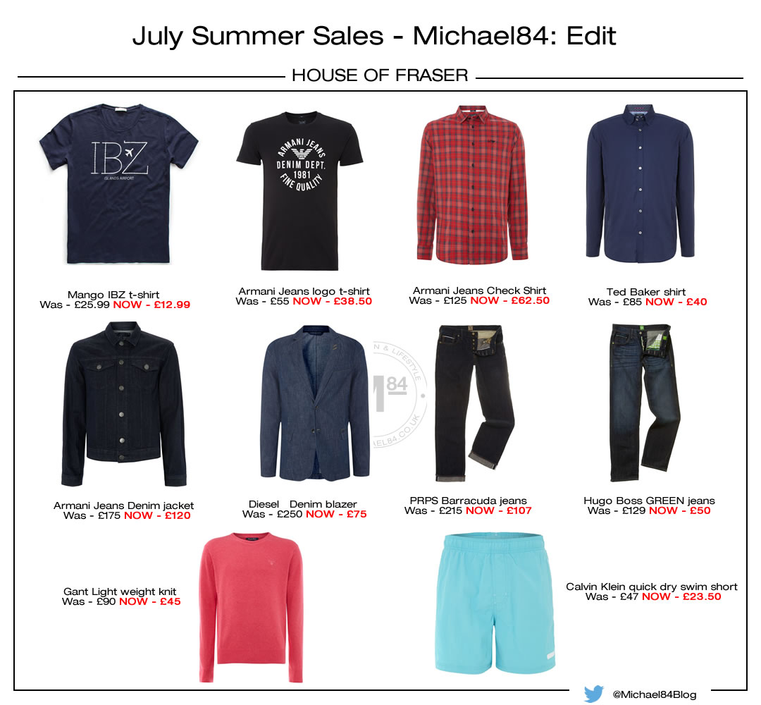 The Best Menswear in the House of Fraser Summer Sale