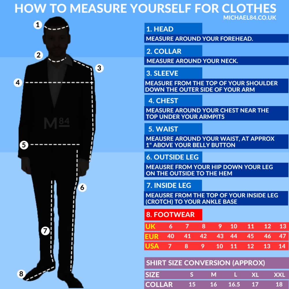 How To Measure Yourself For Clothes - Men's Size Guide