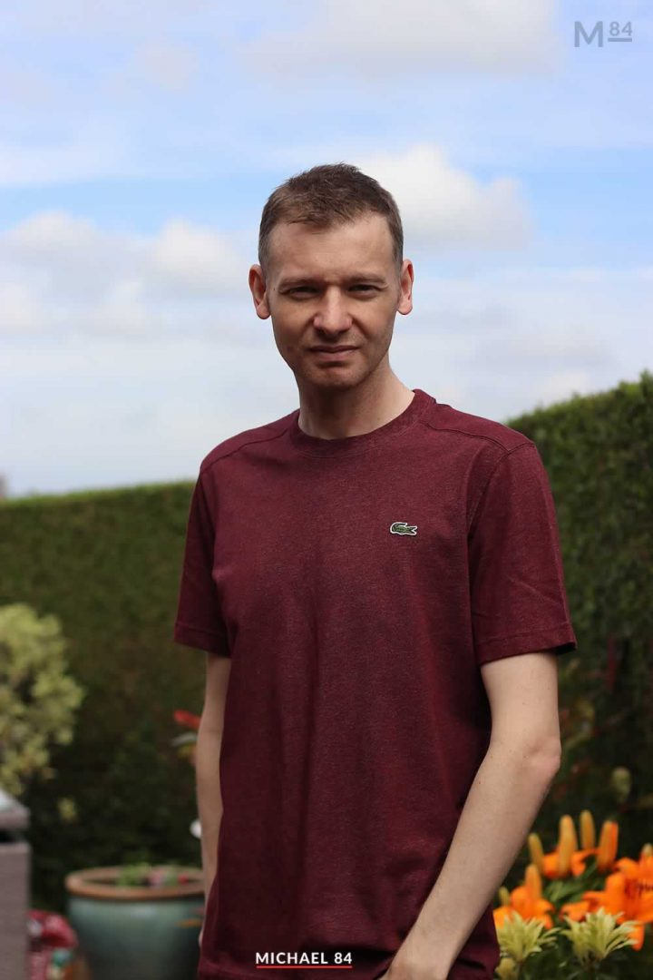 Outfit Of The Day: Lacoste Burgundy Marl T Shirt