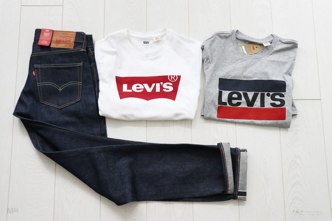Levis Jeans and T-Shirts