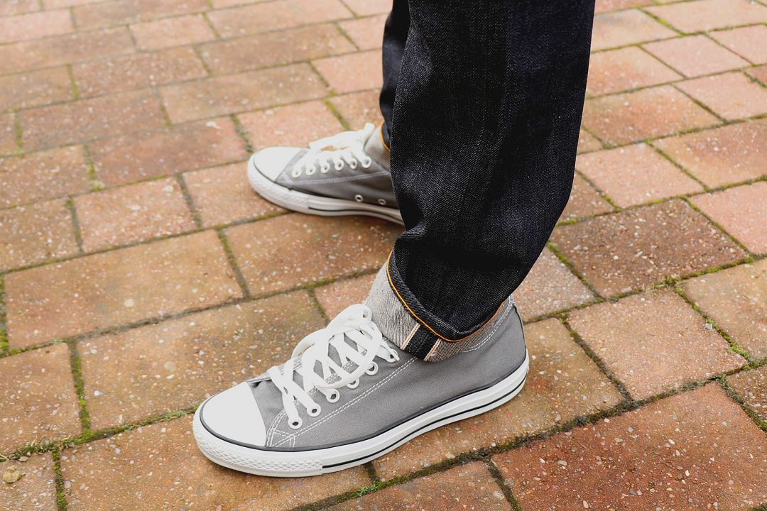Grey Converse All Star Trainers