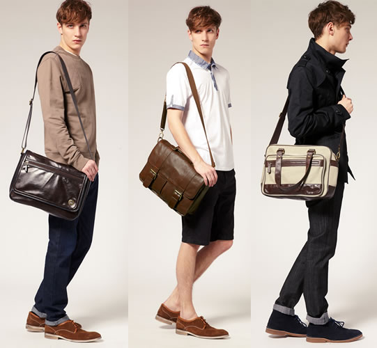 men with man bags