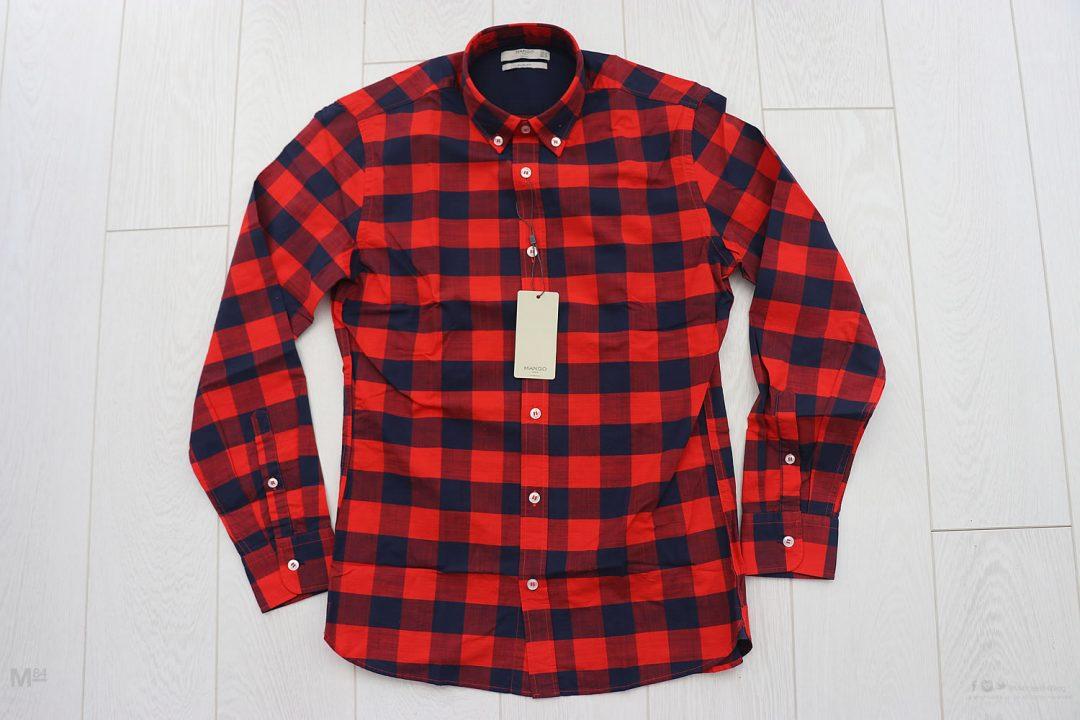 Check Pattern Mango Man Shirt