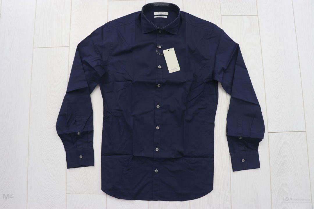 Navy Blue Mango Man Shirt