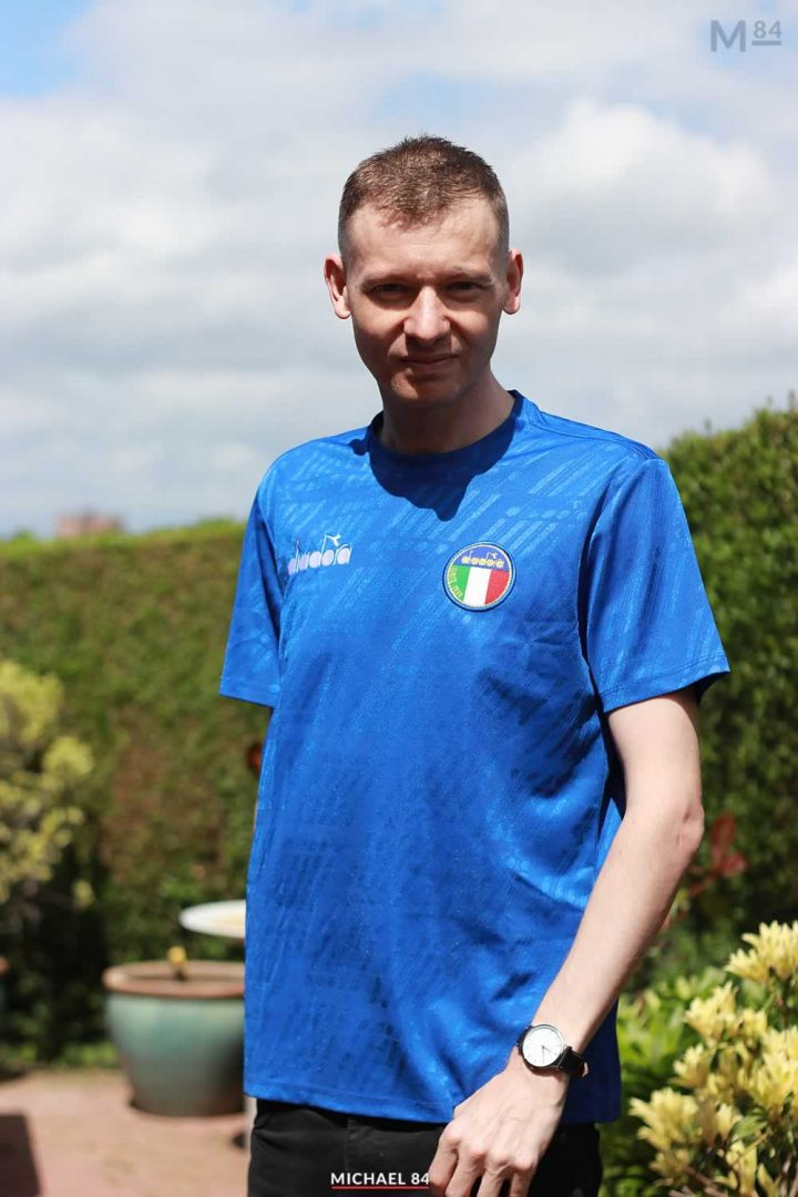 Outfit of the day - Wearing the Italy Diadora Shirt Inspired From 1994