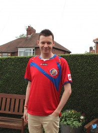 Me in my Costa Rica World Cup 2014 Shirt