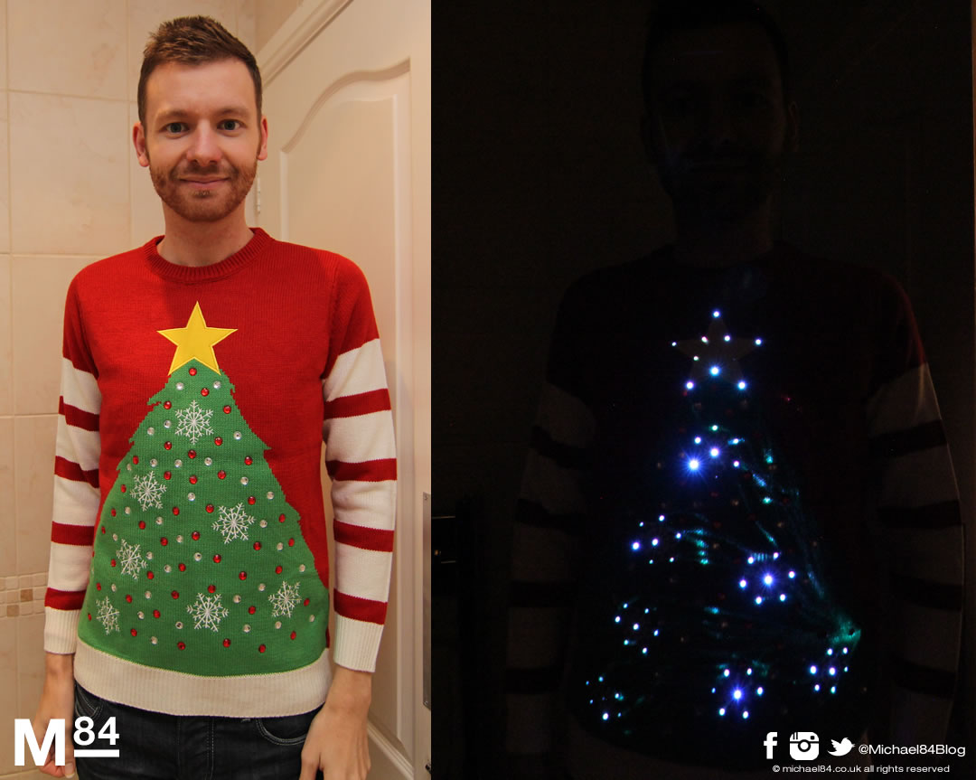 Me In My Cheesy Christmas Jumper Lighting Up