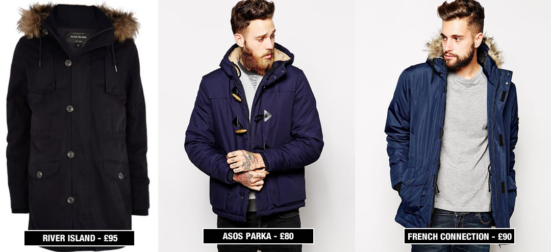 Blue Parka Jacket Men - Coat Nj